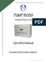 Pump Boss - Intelligent Pump Control manual