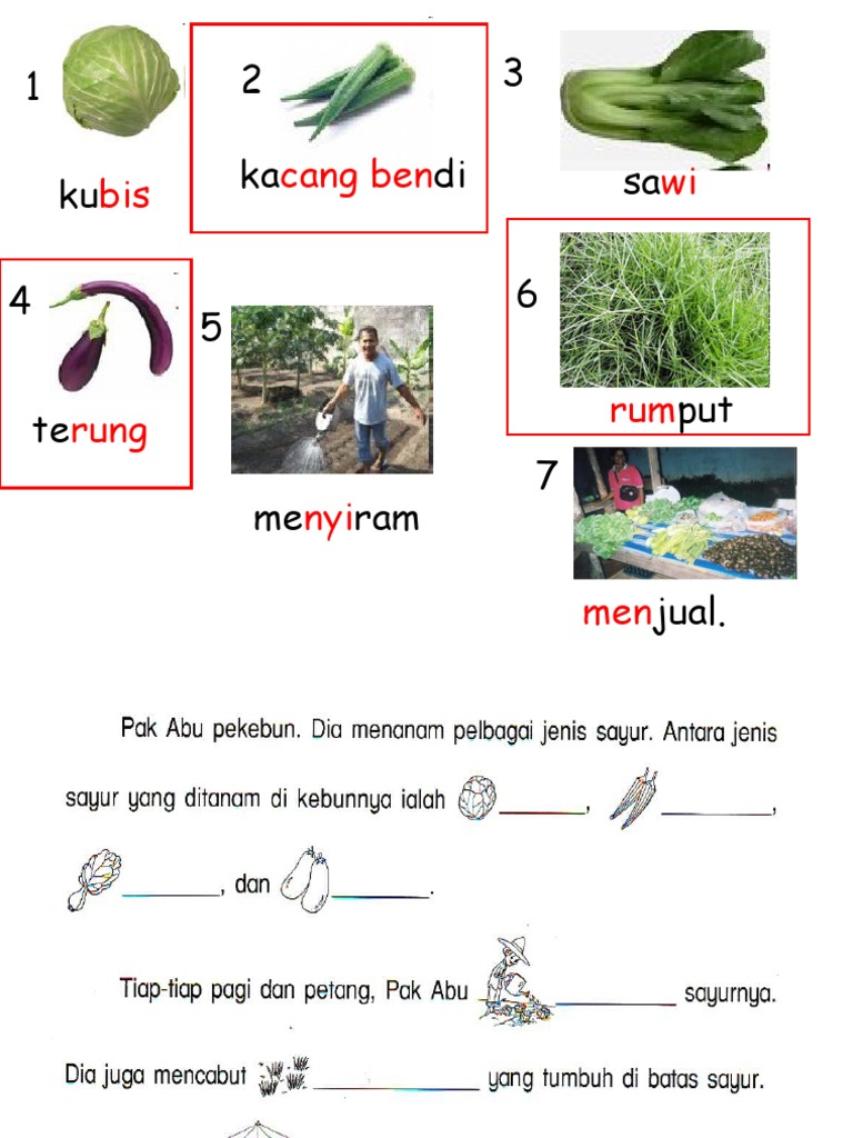 Latihan Penulisan B Melayu Tahun 1
