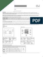 MCC2 Thermostat Instructions