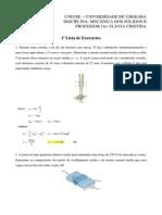 1ª Lista de Exercícios de Mecância Dos Sólidos II (Gabarito)