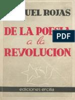 De La Poesía a La Revolución Manuel Rojas