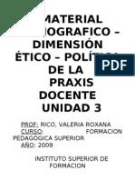 Material Bibliográfico - Unidad 3 - Dimensión ético política de la praxis docente