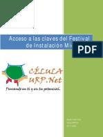 Acceso a Las Claves Del Software Del Festival de Instalación Microsoft