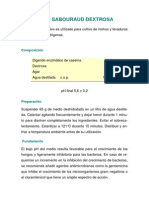 preparacion AgarSabouraudDextrosa