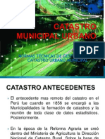 Catastro Municipal Urbano - Planeamiento - Final
