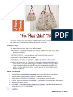 Free Bag Pattern - 'for Pleats Sake' Tote