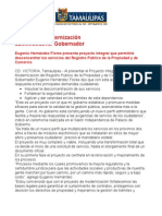 com0366, 280905 Presenta Eugenio Hernández Proyecto Integral de Modernización del Registro Público de la Propiedad y de Comercio
