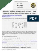 CTM Ejemplo_ Diseño en Espacio de Estado Para La Barra y Bola