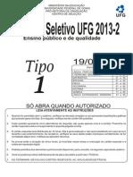 2013-2 - Ufg - Prova Tipo 1