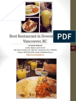 Best Restaurant in Downtown Vancouver British Columbia