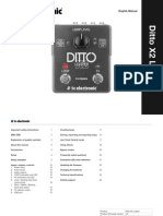 Tc Ditto x2 Looper Manual English