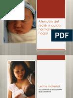 Atención Del Recién Nacido Normal en El Hogar