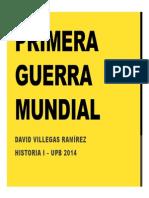 Unidad 9 Primera Guerra Mundial - David Villegas Ramírez