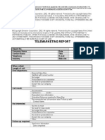 Telemarketing Report