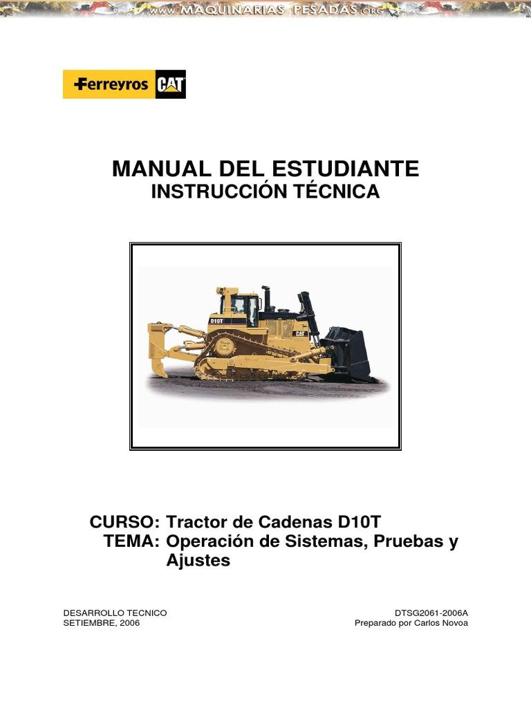 Manual de operacion y mantenimiento de tractor oruga d6t for Manual de diseno y construccion de albercas pdf