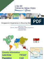 Singapore Experience in Ensuring Water Sustainability Wah Yuen Long