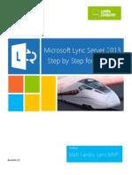 Microsoft Lync Server 2013 Step by Step for Anyone_REV0131