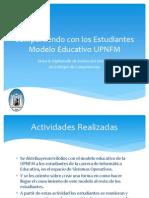 Compartiendo Con Los Estudiantes Modelo Educativo UPNFM