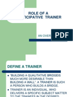 Role of a Participative Trainer