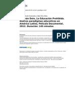 2012.Precht&Silva Peña.german Doin La Educacion Prohibida Nuevos Paradigmas Educativos en America Latina