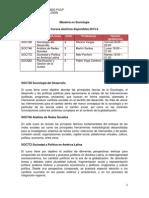 Maestría en Sociología (Cursos Electivos 2013-2)