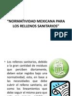 Normatividad Mexicana Para Los Rellenos Sanitarios