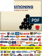 Brand Positioning (battles in your mind)