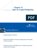 CH 11 Capital Budgeting- Advanced