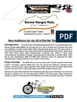 Information for Competitors 2014 Border Ranges Rally