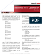 Datacolor QTX File Specification