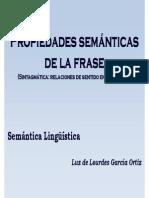 Propiedades Semánticas de La Frase. Lourdes
