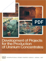 Development of Projects for Uranium Concetrates