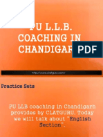Panjab University LLB Entrance Coaching