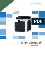 BizhubC25 Quik Guide