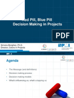 Red Pill, Blue Pill - Decision Making in Projects