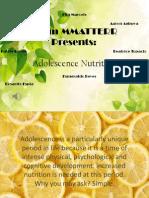 Adolescence Nutrition