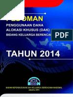 JUKNIS DAK BKKbN 2014 ~PEDOMAN DAK BIDANG KB TAHUN 2014