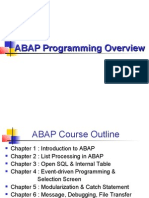 ABAP Programming Overview