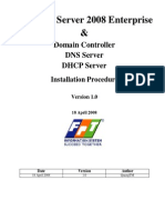 Install Active Directory DNS and DHCP Server 2008