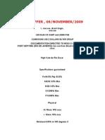 Iron Ore , Soft Offer 09 November 2009
