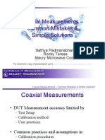 Coaxial Meas - Common Mistakes & Simple Solutions