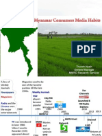 Myanmar Consumers Media Habits by U Thurein Nyein