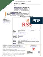 Rashtriya Swayamsevak Sangh - Wikipedia, The Free Encyclopedia
