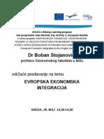 Plakat Jean Monnet Lectures Visoka Škola Primenjenih Studija Vranje 28.5.2014 13-14,30