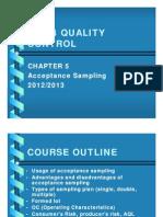 Chapter 5 Acceptance Sampling