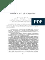 Capacidad Procesal. Mariano  Castex
