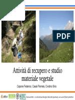 Attività Di Recupero e Studio Materiale Vegetale