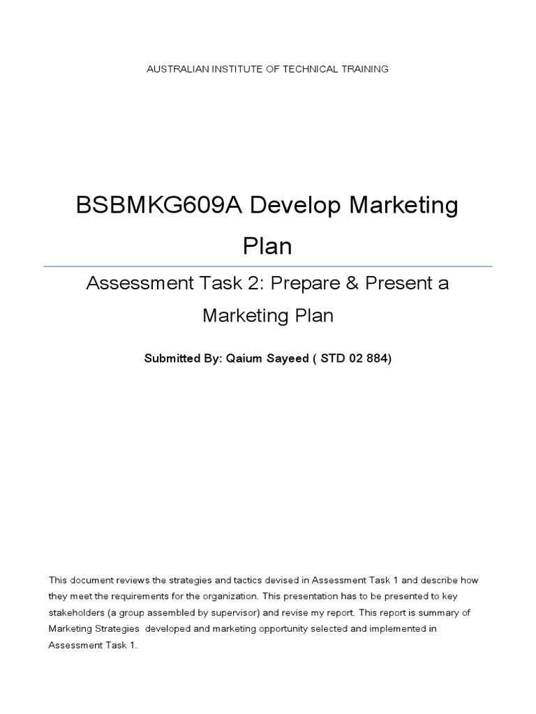 Bsbmkg609a task 2 prepare n present mktg plan retail competition fandeluxe Gallery