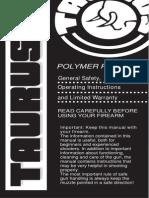 Taurus polymer pistol manual