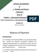 Lesson 1.2 BOP International Finance Management
